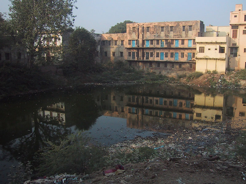 Dilapidated condition of Rudra Kund