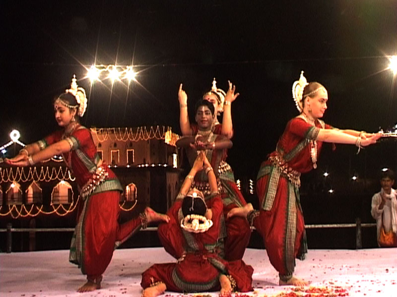 Devotees performing at Barsana Mahotsav