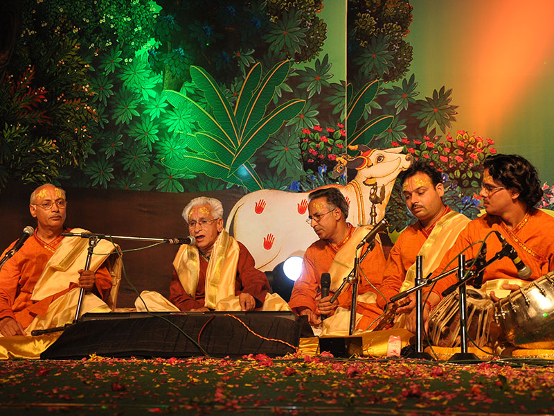 Folk singers from Braj performing at Braj Mahotsav Hyderabad