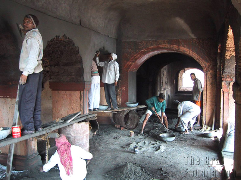 Repair work of Jal Mahal