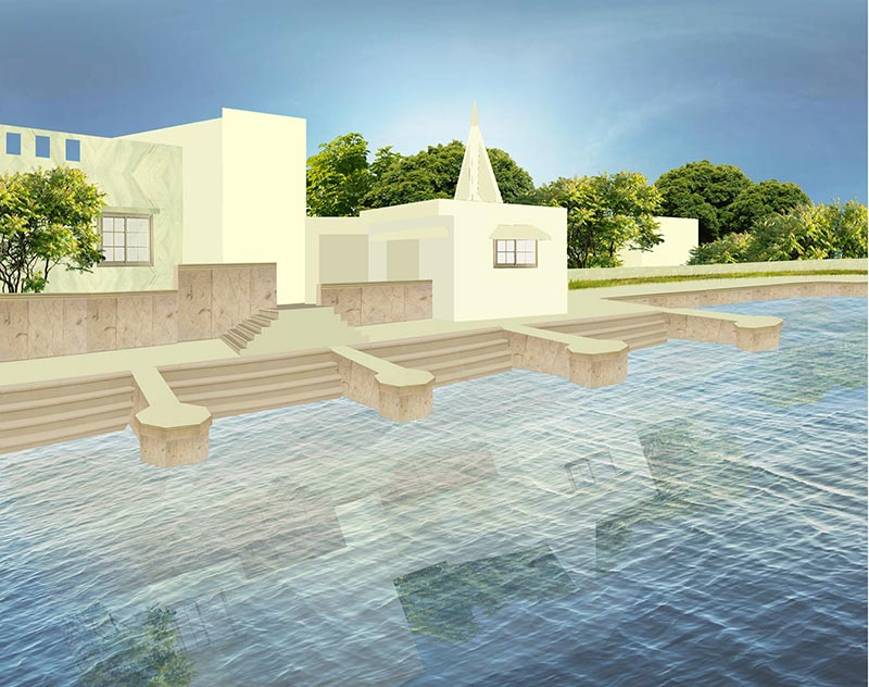 Artist impression of the site after restoration