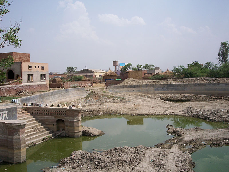 Ruined ghats of the site